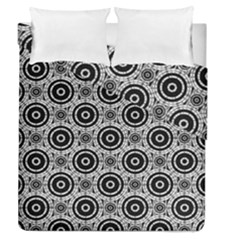 Geometric Black And White Duvet Cover Double Side (queen Size) by linceazul