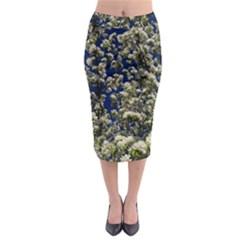 Floral Skies Midi Pencil Skirt by dawnsiegler