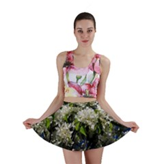 Floral Skies 2 Mini Skirt by dawnsiegler