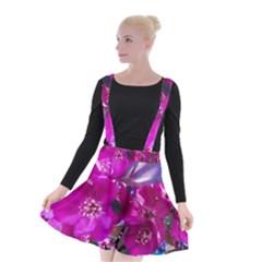 Pretty In Fuchsia Suspender Skater Skirt by dawnsiegler