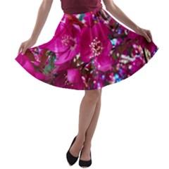 Pretty In Fuchsia 2 A Line Skater Skirt by dawnsiegler