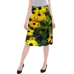 Walking Through Sunshine Midi Beach Skirt by dawnsiegler