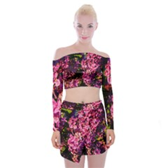 Lilacs Off Shoulder Top With Skirt Set by dawnsiegler