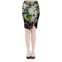 Tree Blossoms Midi Wrap Pencil Skirt by dawnsiegler