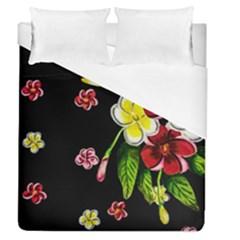 Floral Rhapsody Pt 2 Duvet Cover (queen Size) by dawnsiegler