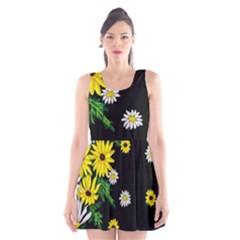 Floral Rhapsody Pt 3 Scoop Neck Skater Dress by dawnsiegler
