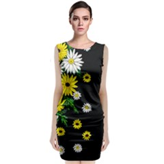 Floral Rhapsody Pt 3 Sleeveless Velvet Midi Dress by dawnsiegler