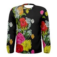 Floral Rhapsody Pt 4 Men s Long Sleeve Tee by dawnsiegler