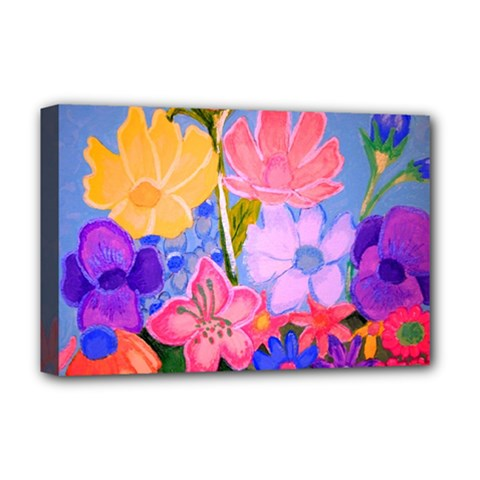 Spring Pastels Deluxe Canvas 18  X 12   by dawnsiegler