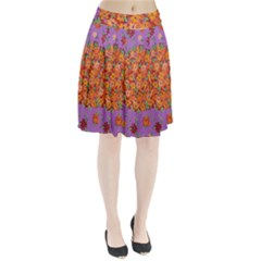 Floral Sphere Pleated Skirt by dawnsiegler
