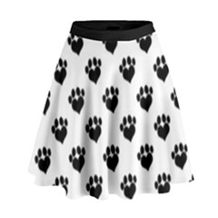 Puppy Love Black High Waist Skirt
