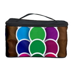 Circle Round Yellow Green Blue Purple Brown Orange Pink Cosmetic Storage Case by Mariart