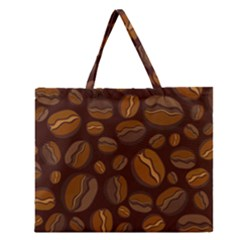 Coffee Beans Zipper Large Tote Bag by Mariart