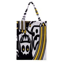 Easter Monster Sinister Happy Magic Rock Mask Face Polka Yellow Classic Tote Bag by Mariart