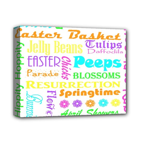 Easter Subway Blossoms Color Rainbow Chocolate Deluxe Canvas 14  X 11  by Mariart
