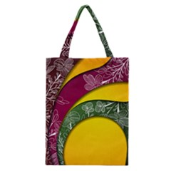 Flower Floral Leaf Star Sunflower Green Red Yellow Brown Sexxy Classic Tote Bag by Mariart