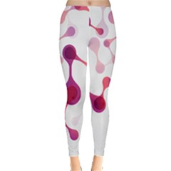 Molecular New Pink Purple Leggings  by Mariart