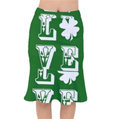 Parks And Tally Love Printable Green Mermaid Skirt by Mariart