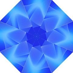 Line Net Light Blue White Chevron Wave Waves Folding Umbrellas by Mariart
