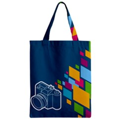 Photography Potraite Panorama Zipper Classic Tote Bag by Mariart