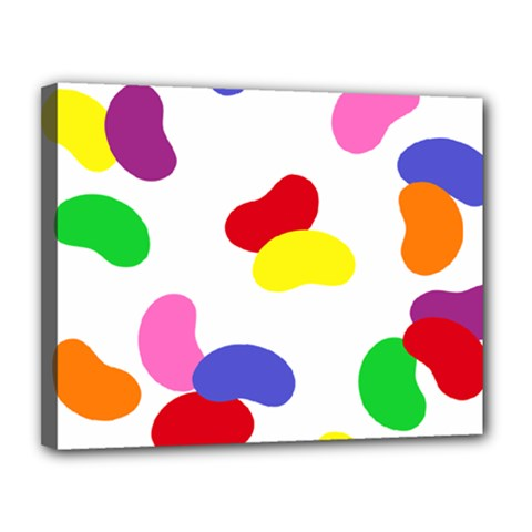 Seed Beans Color Rainbow Canvas 14  X 11  by Mariart