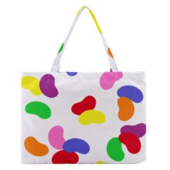 Seed Beans Color Rainbow Medium Zipper Tote Bag by Mariart