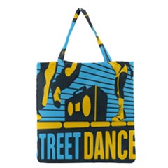 Street Dance R&b Music Grocery Tote Bag by Mariart