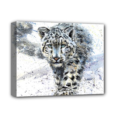 Snow Leopard Deluxe Canvas 14  X 11  by kostart