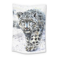Snow Leopard Small Tapestry by kostart