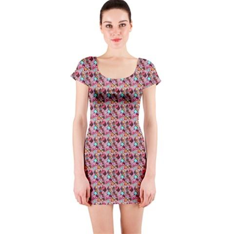 Short Sleeve Bodycon Dress Front
