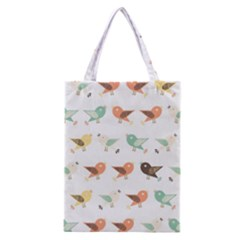 Assorted Birds Pattern Classic Tote Bag by linceazul