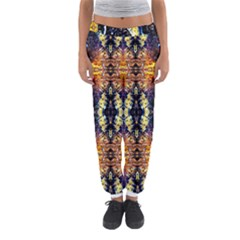 Mystic Yellow Blue Ornament Pattern Women s Jogger Sweatpants by Costasonlineshop