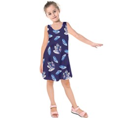 Mystic Crystals Witchy Vibes  Kids  Sleeveless Dress by BubbSnugg