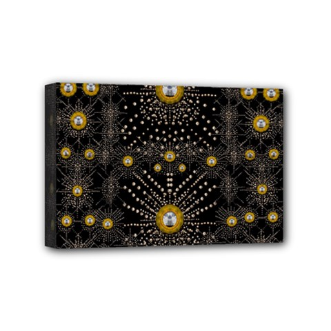 Lace Of Pearls In The Earth Galaxy Pop Art Mini Canvas 6  X 4  by pepitasart