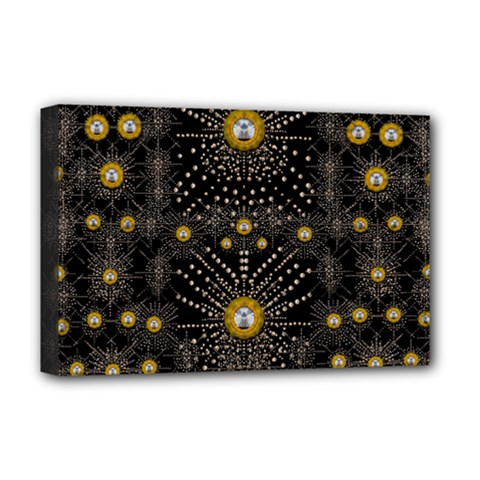 Lace Of Pearls In The Earth Galaxy Pop Art Deluxe Canvas 18  X 12   by pepitasart