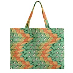 Emerald And Salmon Pattern Medium Tote Bag by linceazul