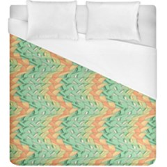 Emerald And Salmon Pattern Duvet Cover (king Size) by linceazul
