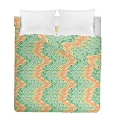 Emerald And Salmon Pattern Duvet Cover Double Side (full/ Double Size) by linceazul