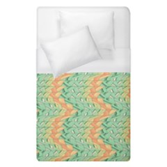 Emerald And Salmon Pattern Duvet Cover (single Size) by linceazul
