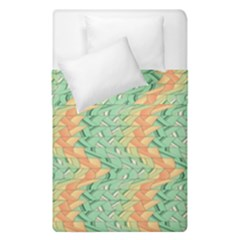 Emerald And Salmon Pattern Duvet Cover Double Side (single Size) by linceazul