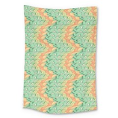 Emerald And Salmon Pattern Large Tapestry by linceazul