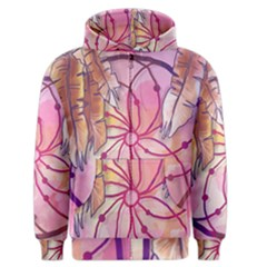 Watercolor Cute Dreamcatcher With Feathers Background Men s Zipper Hoodie by TastefulDesigns