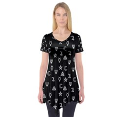 Witchcraft Symbols  Short Sleeve Tunic  by Valentinaart