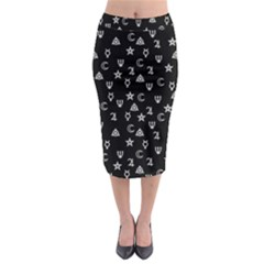 Witchcraft Symbols  Midi Pencil Skirt by Valentinaart