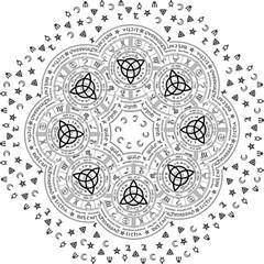 Witchcraft Symbols  Straight Umbrellas by Valentinaart