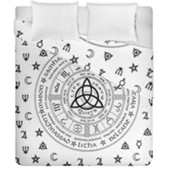 Witchcraft Symbols  Duvet Cover Double Side (california King Size) by Valentinaart