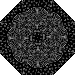 Witchcraft Symbols  Hook Handle Umbrellas (small) by Valentinaart