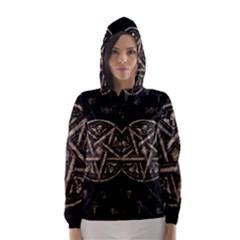 Witchcraft Symbols  Hooded Wind Breaker (women) by Valentinaart