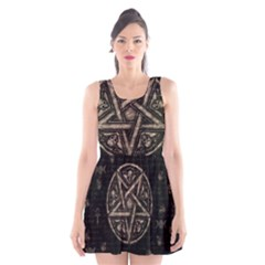 Witchcraft Symbols  Scoop Neck Skater Dress by Valentinaart
