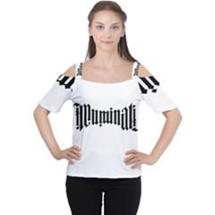 Illuminati Women s Cutout Shoulder Tee by Valentinaart